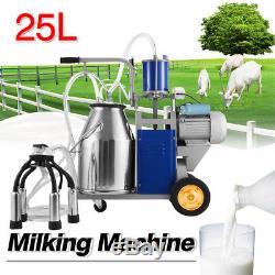 Machine À Traire Électrique De 25l Pour Des Chèvres De Vaches Avec Le Vide 12cows / H Milker De Seau
