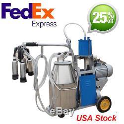 Machine À Traire Électrique De 25l Pour Des Moutons Réglables Withbucket 550w + Prise Américaine