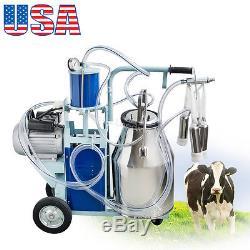Machine À Traire Électrique De 25l Pour Des Vaches Avec Le Seau 2 Branchez 12cows / Heure Milker USA