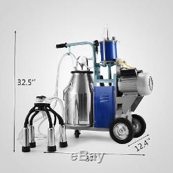 Machine À Traire Électrique De 25l Pour Des Vaches De Chèvres Withbucket 2 Prise 12cows / Heure Milker