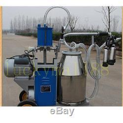 Machine À Traire Électrique De 25l Pour L'acier Inoxydable De Seau De Vaches De Ferme 64 / Min Livesto