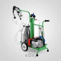 Machine À Traire Électrique De 25l Pour L'acier Inoxydable Du Seau 220v De Vache De Ferme