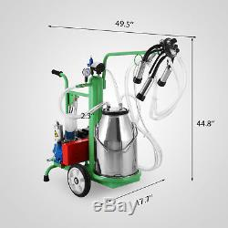 Machine À Traire Électrique De 25l Pour L'acier Inoxydable Du Seau 220v De Vaches De Ferme Bon