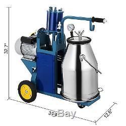 Machine À Traire Électrique De 25l Pour Les Vaches De Chèvres Avec L'aspirateur 1440rpm De Traqueur