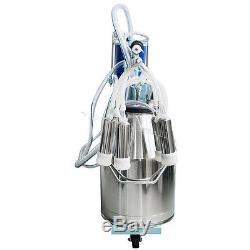 Machine À Traire Électrique De 2plug Pour Le Seau À Vaches De Ferme 25l 304 Acier Inoxydable Nouveau