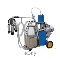 Machine À Traire Électrique De La Machine À Traire De Vache 550w + Capacité Simple De Seau De 25l