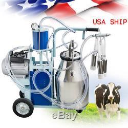 Machine À Traire Électrique De Piston De Trayeuse De Vache Pour Le Seau 1440rmp / Min De La Ferme 25l De Vaches