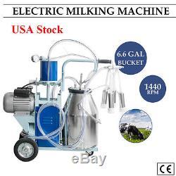 Machine À Traire Électrique De Piston De Trayeuse De Vache Pour Le Seau De Ferme De Vaches