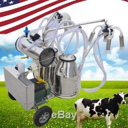 Machine À Traire Électrique De Pompe À Vide De Milker De Double Réservoir Mobile Pour Le Ce De Ferme De Vaches