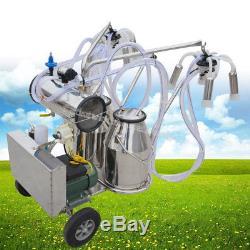 Machine À Traire Électrique De Pompe À Vide De Milker De Double Réservoir Pour La Ferme De Vaches De Bétail USA