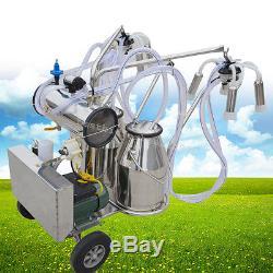 Machine À Traire Électrique De Pompe À Vide De Milker De Double Réservoir Pour Le Bétail Dairyus De Vache