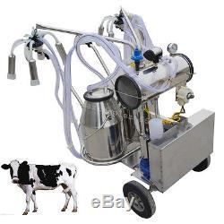 Machine À Traire Électrique De Pompe À Vide Pour L'entrepôt Des Etats-unis De Double Réservoir De Vaches De Ferme