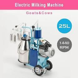 Machine À Traire Électrique De Traite 25l Pour Les Vaches 0.04-0.05mpa De Chèvres Réglable