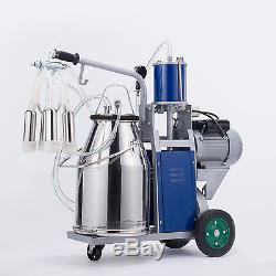 Machine À Traire Électrique De Trayeuse De Vache Avec Le Seau 25l Et La Pompe À Piston