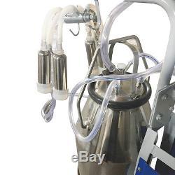 Machine À Traire Électrique Des États-unis Milker Pour Des Vaches De Ferme Avec Le Seau 25l D'acier Inoxydable