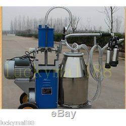 Machine À Traire Électrique Des Etats-unis Pour L'acier Inoxydable Du Seau 2plug 25l De Vaches De Ferme