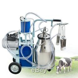Machine À Traire Électrique Des États-unis Pour Le Seau De La Vache 25l Avec La Roue Résistante Safe