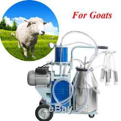 Machine À Traire Électrique Des Usa6.6gal Pour Des Vaches De Chèvres Withbucket 12cows / Heure Milker
