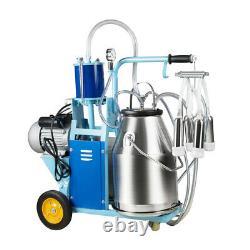 Machine À Traire Électrique Milker Farm Cows 25l Bucket Stainless Steel 12cows/h