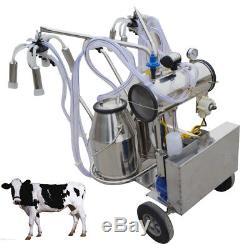 Machine À Traire Électrique Portative De Double Réservoir Pour La Pompe À Vide De Vaches De Ferme Ups