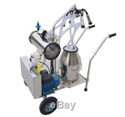 Machine À Traire Électrique Portative Simple De Pompe À Vide De Milker De Réservoir Pour La Ferme De Vaches