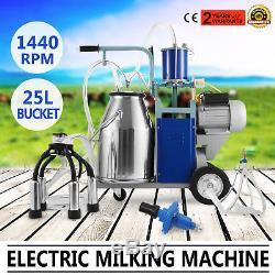 Machine À Traire Électrique Pour Des Vaches De Chèvres Withbucket Pompe À Vide Réglable Milker