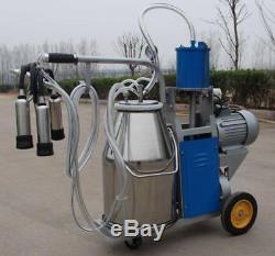 Machine À Traire Électrique Pour Des Vaches De Ferme Avec Le Bateau Rapide De Garantie De Seau De 25l