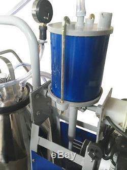 Machine À Traire Électrique Pour Des Vaches De Ferme Avec Le Seau Pioton 0.04-0.05mpa Chaud