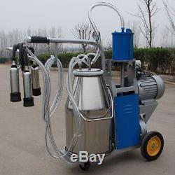 Machine À Traire Électrique Pour Des Vaches De Ferme Withbucket Pompe À Vide Réglable Milker