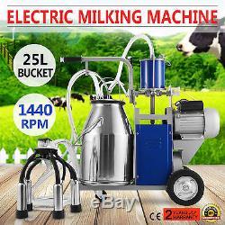 Machine À Traire Électrique Pour Des Vaches De Ferme Withbucket Réglable 12cows / Heure 2 Prise
