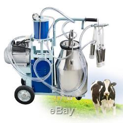 Machine À Traire Électrique Pour Le Navire Bucketca De Bucketca D'acier Inoxydable De La Vache 25l De Ferme