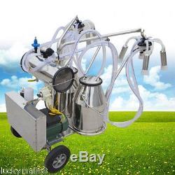 Machine À Traire Électrique Pour Les Vaches De Ferme Double Réservoir 2 Seau Milker Pompe À Vide