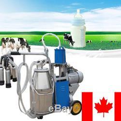 Machine À Traire Électrique Professionnelle Pour Des Vaches De Ferme Avec La Pompe À Piston De Vide De Seau