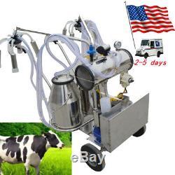 Machine À Traire Électrique Ss De Double Réservoir Milker De Pompe À Vide Électrique Pour Des Vaches-etats-unis