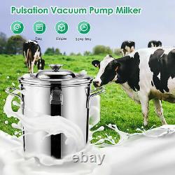 Machine De Traite Des Chèvres De Vache Pulsation Pompe À Vide Laiteur Automatique Élevage