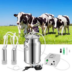 Machine De Traite Électrique 7l Double Tube À Vide Pompe D'impulsion De Vache Laiteur Automatique