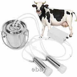 Machine De Traite Électrique Pratique En Acier Inoxydable Bucket Cows Laiting Us Plug