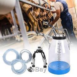 Machine De Vache 25l Échelle Double Transparent Portable Dairy Seau Set Réservoir Traire