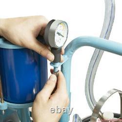 Machine Électrique Automatique De Traite Ferme Vaches Chèvre 25l Bucket Vacuum Pump Dairy