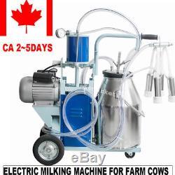 Machine Électrique De Trayeur Pour Des Vaches De Ferme Avec La Pompe À Vide De Piston De Seau 25 Jours De Bateau