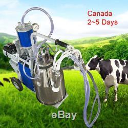 Milker De Machine À Traire Pour Des Vaches De Ferme + Pompe À Vide De Piston De Seau Canada Stock
