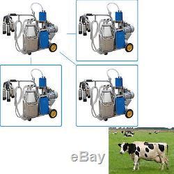 Milker Électrique De Machine À Traire Pour Former Le Seau De Vaches 25l Acier Inoxydable 304 Us