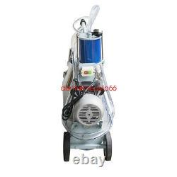 Milker Machine À Traire Électrique Pour Vaches Agricoles Bucket 25l Acier Inoxydable 110v Ce