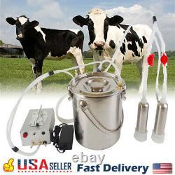 Milker Portatif De Pompe À Vide De Machine De Traite Électrique De 7l Pour La Chèvre De Mouton De Vache De Ferme