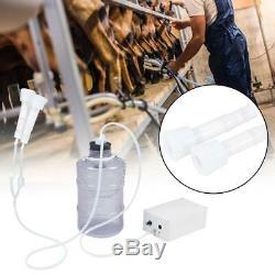 Mini Électrique Barrel Trayeuse Pompe À Vide Pour Vache Milker Réservoir 5l Accueil