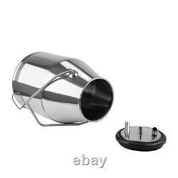 Nouveau Barrel Portable Cow Milking Machine Miker 304 Seau De Réservoir En Acier Inoxydable