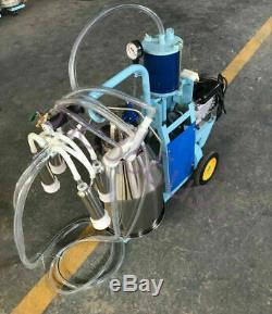 Nouveau Piston Trayeuse Électrique Godet En Acier Inoxydable Vaches Chèvres Machine De Lait Ferme