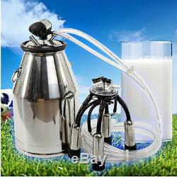 Nouveau Vache Portable Milker Seau Réservoir Barrel Machine 304 Traire En Acier Inoxydable