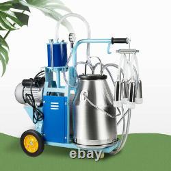 Nouvelle Machine De Traite Électrique De 25l Farm Cows Stainless Steel Piston Bucket Milker
