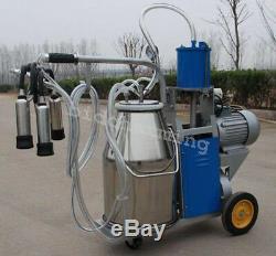 Pompe À Vide À Piston Électrique Machine À Traire Vaches Seau Portable En Acier Inoxydable